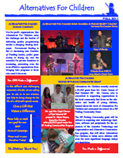 2011 Alternatives for Children Fall Newsletter
